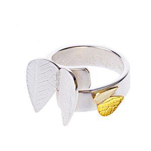 Angel, Ring med silver/guld änglar 1 650 kr